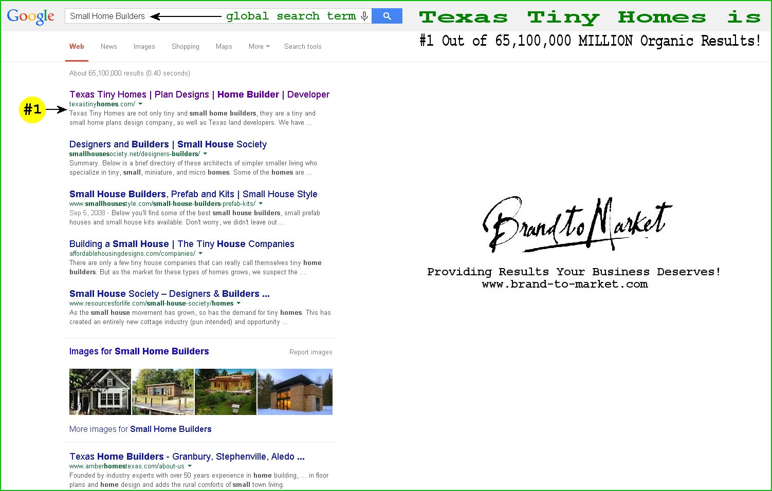Google Results - Small Home Builders