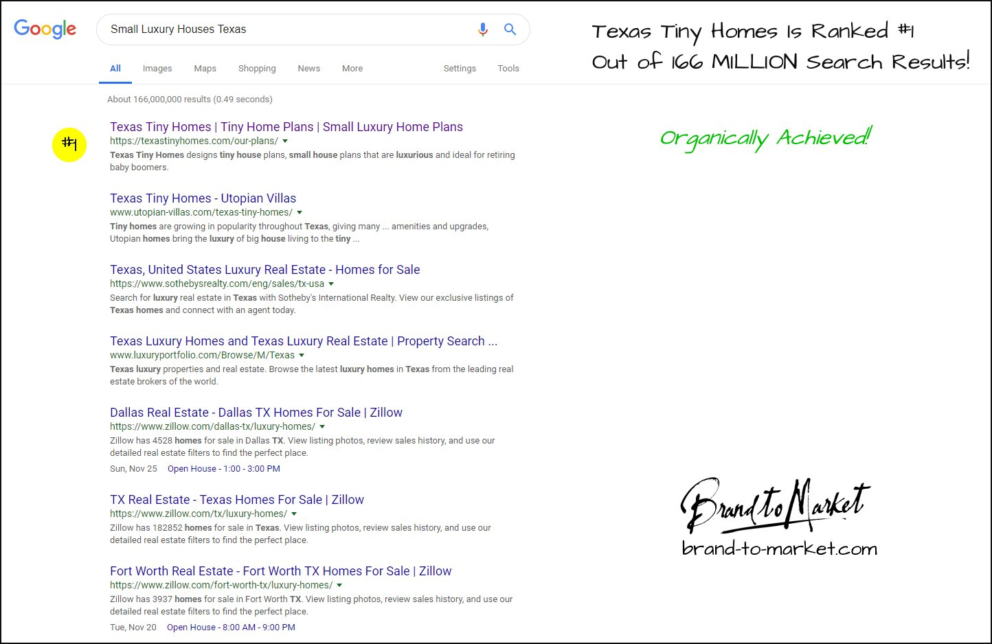 1st Page Google Results! | Brand To Market